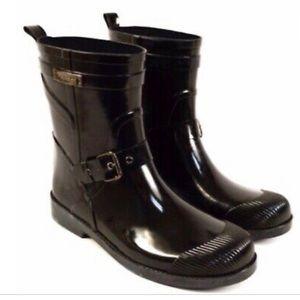 Coach Lester Rainboots in black